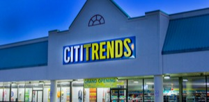 Picture of a Citi Trends store front-mobile